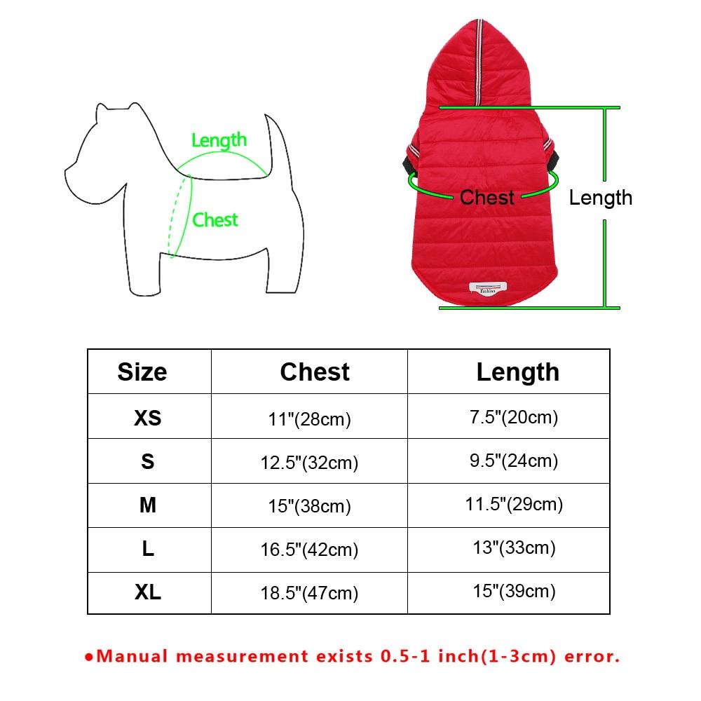 Dog Snowsuit size