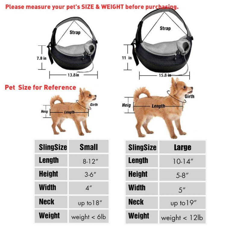 Dog Carrier Sling for Small Dog size