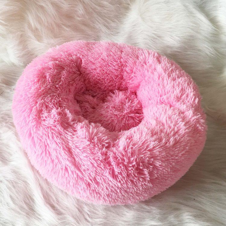 Donut Dog Bed | Donut Pet Bed | Donut Calming Pet Bed | Plush Donut Dog Bed