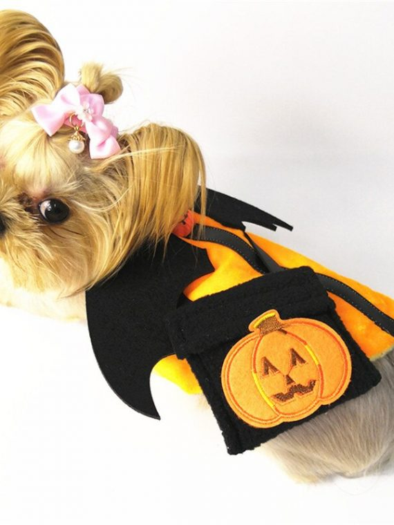 Halloween-Pet-clothing-Pet-Dog-Shirt-Painting-Polar-Puppy-Coat-Pets-Cat-Warm-Clothes-Coat-With-Bag-Pumpkin-dress-accessories-@D