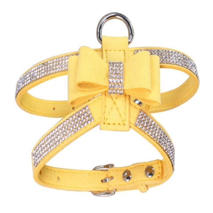cute dog harness yellow