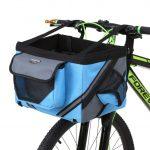 Front Bike Basket for Dog Blue