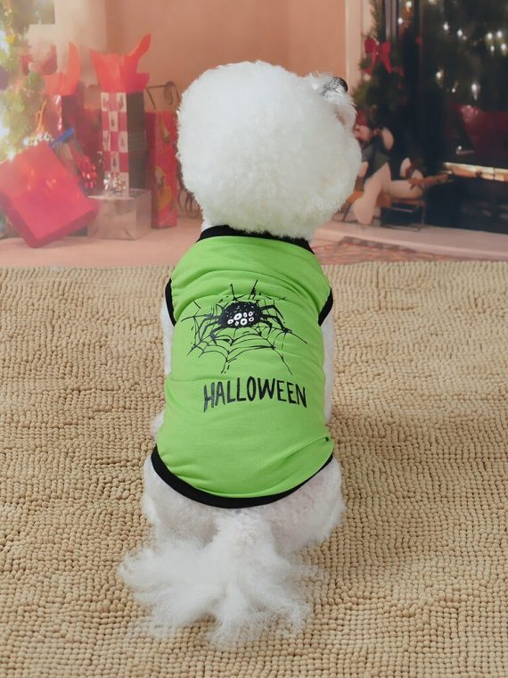Halloween Pet Dog Shirt Cloak Painting Puppy Coat Pets Clothes Halloween Pet Clothing for Large Medium Small Dogs Puppy