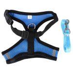 cute dog harness blue