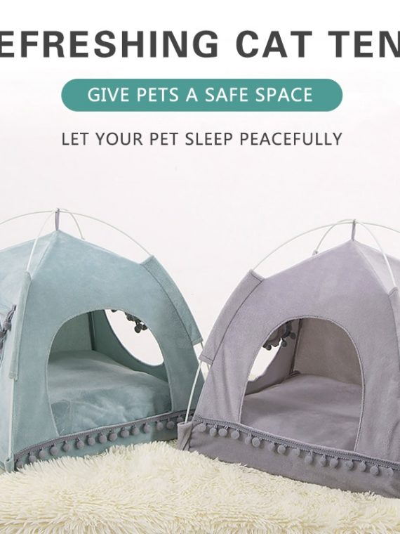 Summer-Breathable-Cat-Bed-Portable-Foldable-Pet-Nest-Cat-Small-Dog-Tent-House-Removable-Washable-Sleeping-Puppy-Teepee
