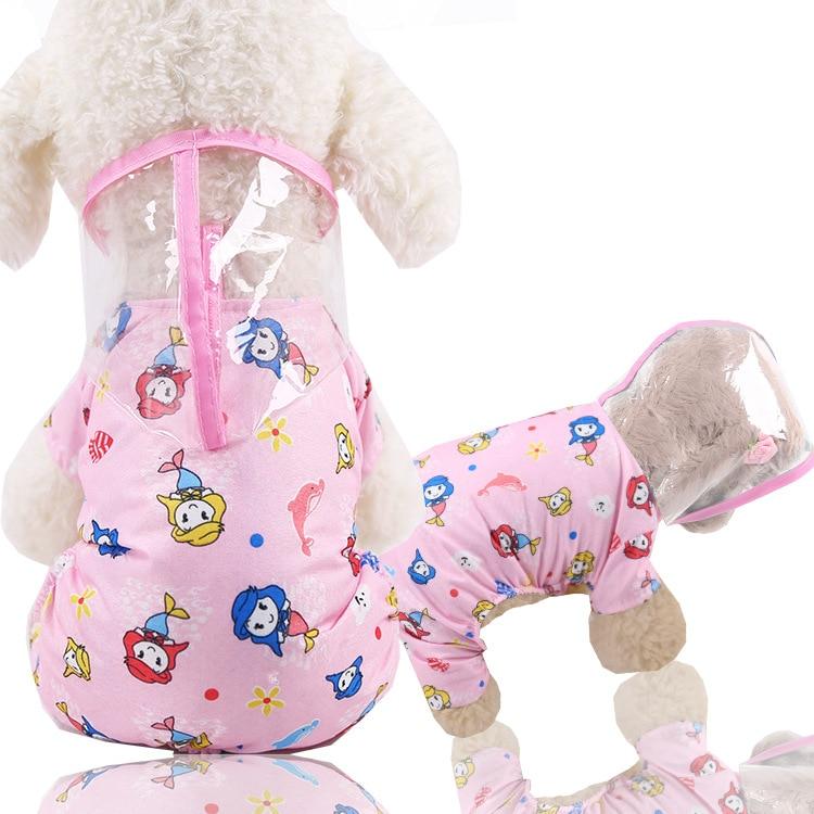 Small Dog Rain Jacket | Dog Rain Gear | Dog Raincoat with Hood