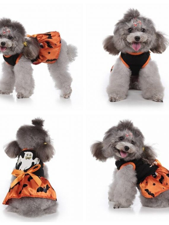 Halloween Cosplay Dog Dress Dog Clothes For Festival Costume Cartoon Princess Dress For Small And Medium Dog Puppy Dog Dress