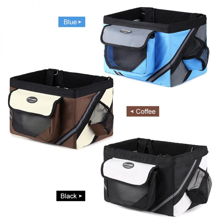600D Oxford Fabric Bike Basket Bicycle Handlebar Front Bag Box Pet Dog Cat Carrier Bycicle Accessories