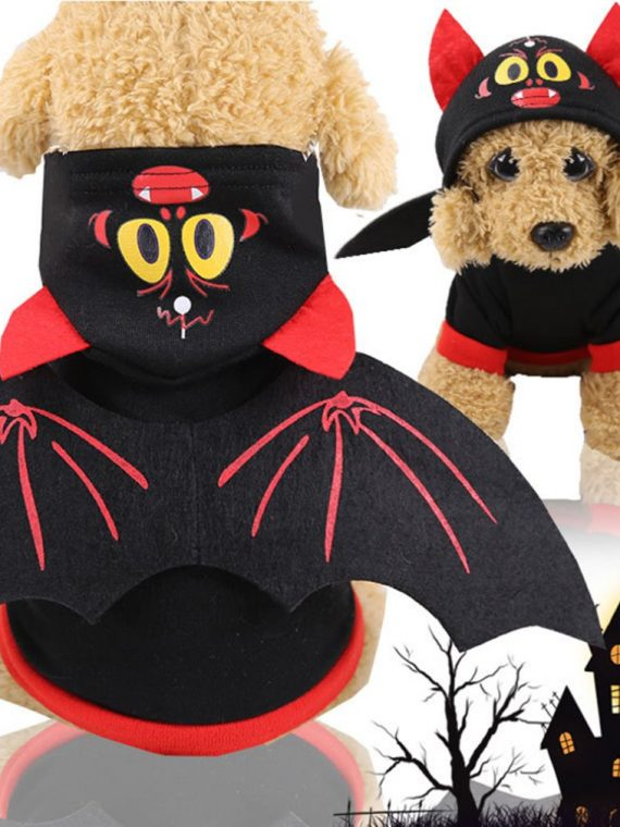 Pet Halloween Christmas Chest Back Creative Cat Dog Small Dog Bat Transformation Costume