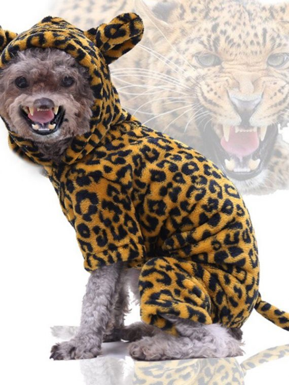 Pet-Dog-Halloween-Cosplay-Costumes-Funny-Autumn-Winter-Cheetah-Image-Design-Four-Leg-Flannel-Changing-Clothes-Dogs/Cats