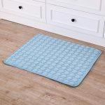 Pet Pad Summer Cooling Mat Dog Beds Mats Blue Pet Ice Pad Cool Cold Silk Moisture-Proof Cooler Mattress Cushion Puppy