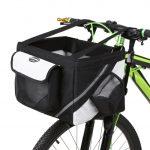 Front Bike Basket for Dog Black