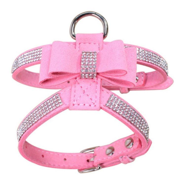 cute dog harness pink