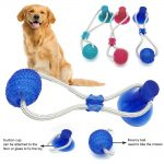 Dog Cats Dogs Interactive Suction Cup Push TPR Ball Toys Elastic Ropes Pet Tooth Cleaning Chewing Playing IQ Treat Puppy Toys