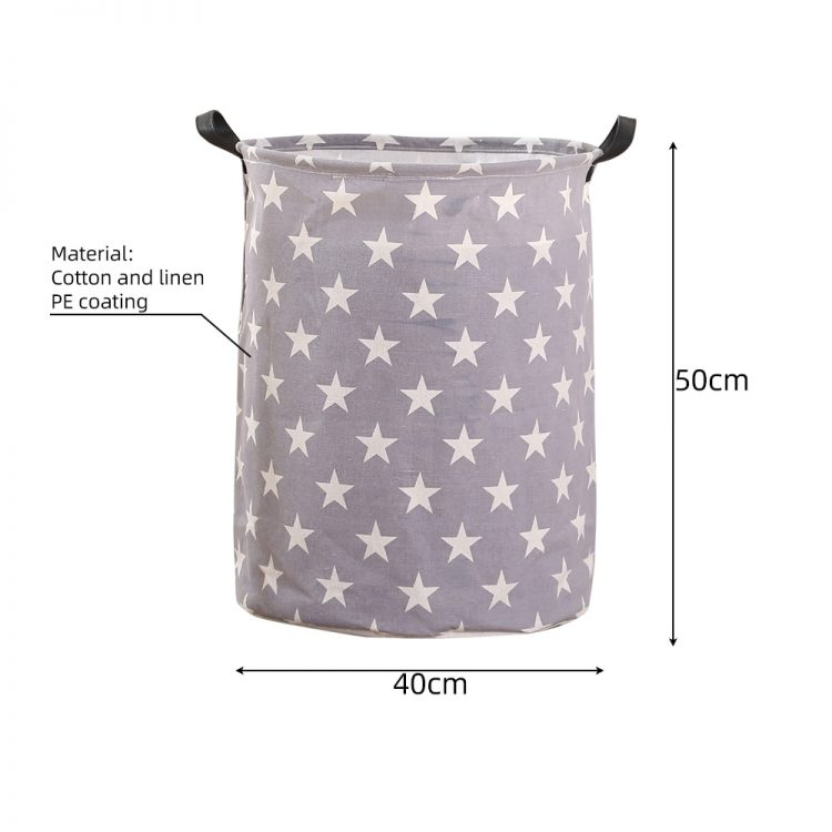 1pc Folding Laundry Basket Round Storage Bin Bag Large Hamper Collapsible Clothes Toy Basket Bucket Organizer Large Capacity