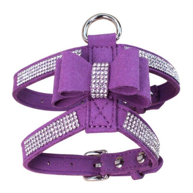 cute dog harness purple