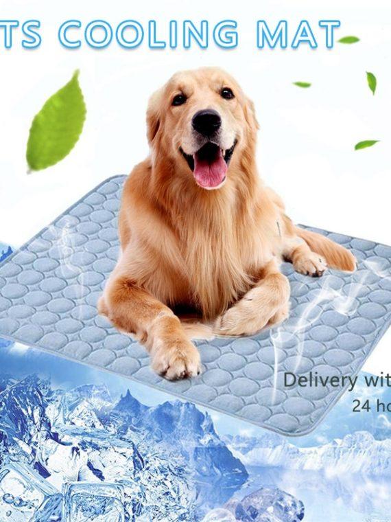 Pet-Pad-Summer-Cooling-Mat-Dog-Beds-Mats-Blue-Pet-Ice-Pad-Cool–Cold-Silk-Moisture-Proof–Cooler-Mattress-Cushion-Puppy