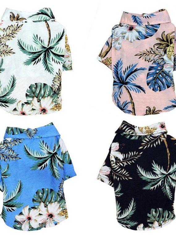 Summer-Hawaii-Beach-Shirt-Pet-Clothes-Cat-Dog-Coconut-Tree-Printed-Coat-Thin-Short-Sleeve-Dog-Clothing-Puppy-Overalls