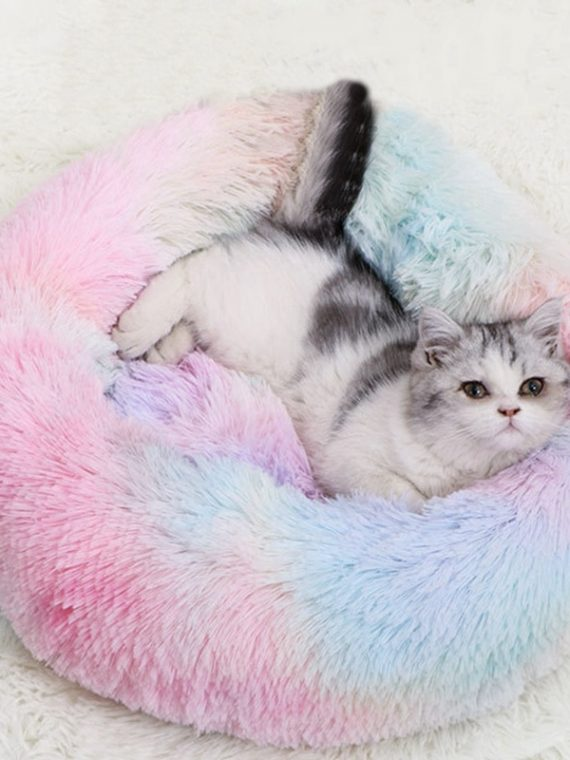 Mixing-Color-Long-Plush-Cat-Nest-Soft-Coral-Velvet-Bed-House-Pet-Sleeping-Mat-Winter-Puppy-Kennel-Cat-Cushion-Portable-Pads