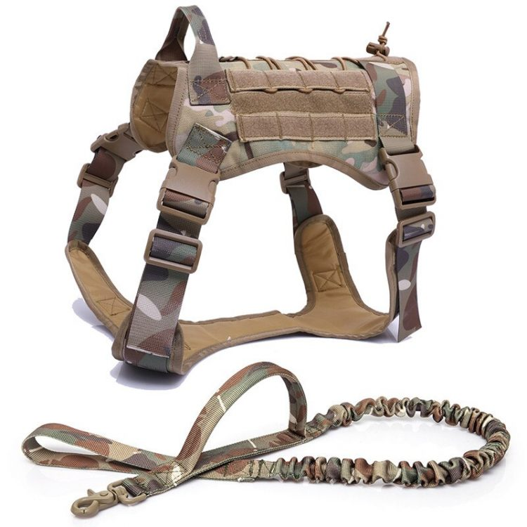 Tactical Pet Dog Harness K9 Working Dog Collar Vest With Handle Dog Leash Lead Training For Medium Large Dogs German Shepherd
