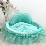 Cute dog bed green