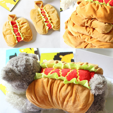 Pet Dog and Cat Costume, Cute Hot Dog Sandwich Costume, Funny Hot Dog Clothes, Cat Costume