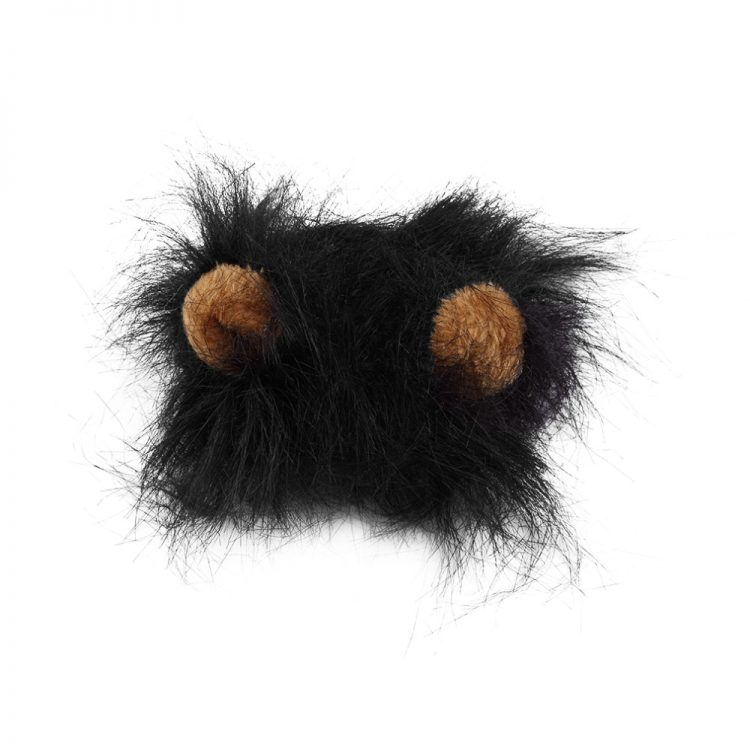 2020 Hot Sale Pet Cat Dog Dress Up Costume Wig Emulation Lion Hair Mane Ears Head Cap Autumn Winter Muffler Scarf Pet Products