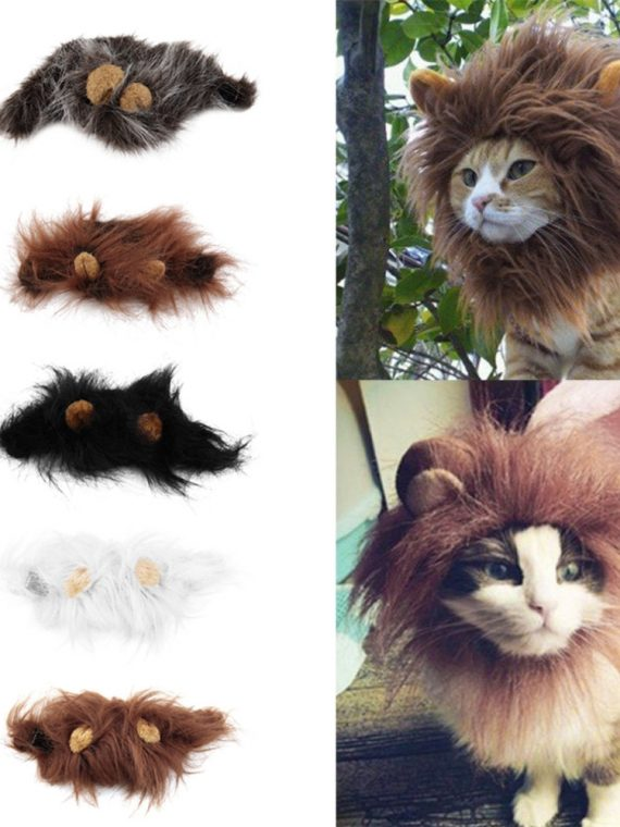 2020-Hot-Sale-Pet-Cat-Dog-Dress-Up-Costume-Wig-Emulation-Lion-Hair-Mane-Ears-Head-Cap-Autumn-Winter-Muffler-Scarf-Pet-Products