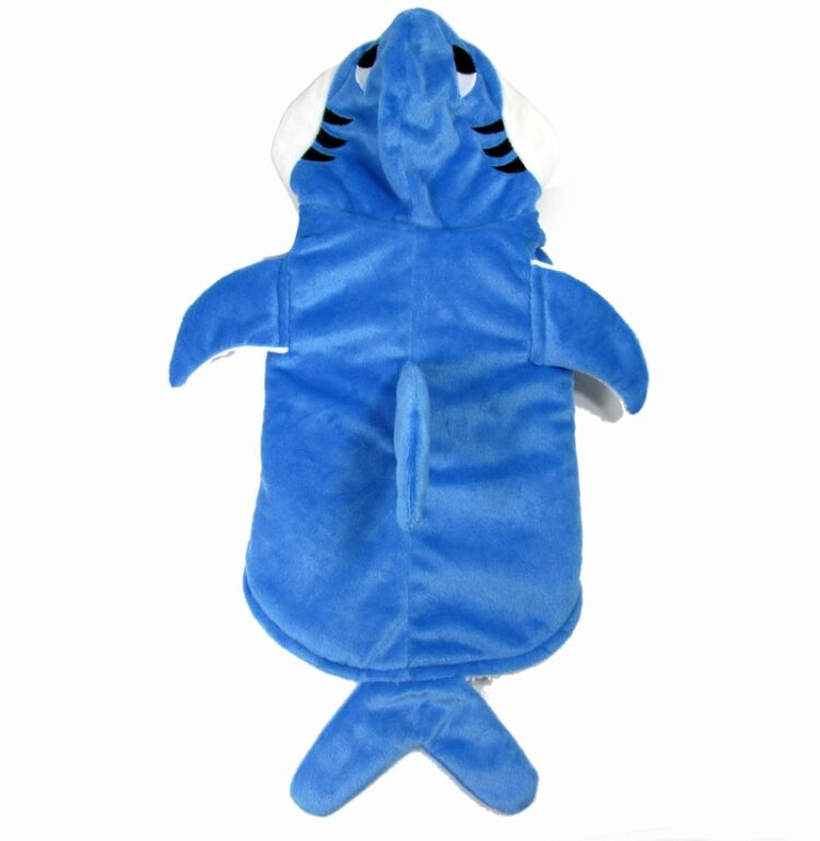 Mogoko 1pc Hot Sell Pet Dog Cosplay Clothes Cute Shark Jaws Fancy Dress Costume Puppy Coat Jacket Outfit Adorable Blue Hoodies