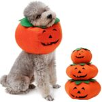 Pet Collars Halloween Pumpkin Collar for Cats Small Dogs Cute Cosplay Pet Accessories Cute Neckband
