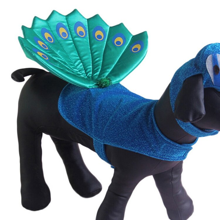 Pet Dog Cat Clothes Halloween Peacock Hat Fashion Pet Dog Clothes Cosplay Puppy Dog Costumes Clothing For Small Dogs Outfits