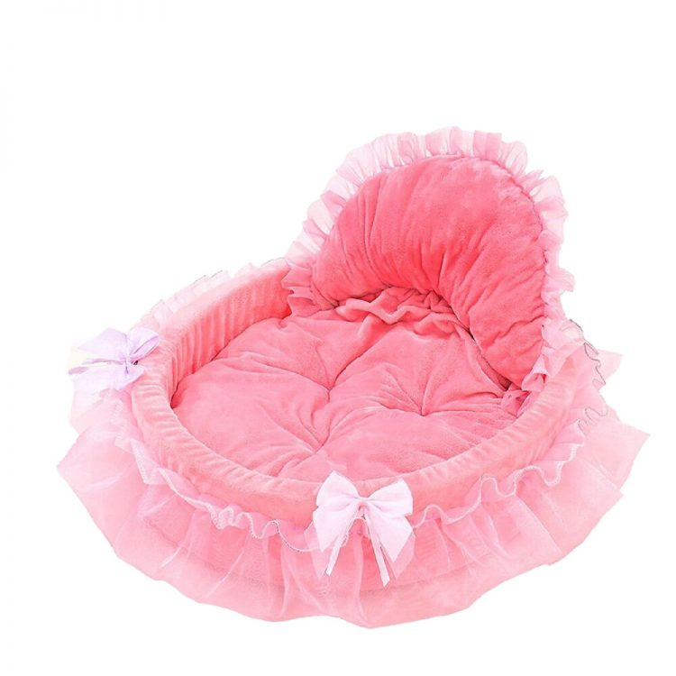 cute small dog beds pink