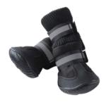 dog snow boots black