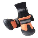 dog snow boots orange