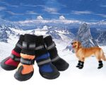 4/Pcs Dog Shoes High Waist Golden Retriever Samos Husky Waterproof Breathable Winter Dog Feet Large Dog Cotton Boots Pet Shoes
