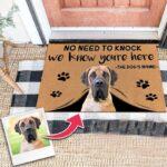 Custom Pet Involved Doormat With Your Pet's Photo