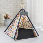 Teepee Dog Bed | Puppy Teepee | Teepee Dog House | Dog Teepee with Cushion