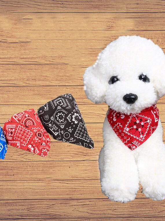 Dog-Scarf-Adjustable-|-Cute-Dog-Bandanas-|-Dog-Neckerchief-