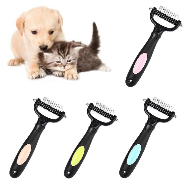 DogMEGA Dog Grooming Comb | Pet Hair Removal Comb