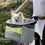 DogMEGA Dog Bike Baskets with Safety Leash Clip | Small Dog Bike Basket