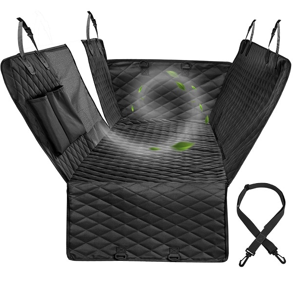 Waterproof Dog Car Seat Cover Hammock With Zipper And Pockets