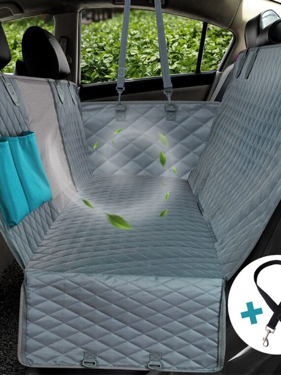 Waterproof-Dog-Car-Seat-Cover-Hammock-With-Zipper-And-Pockets