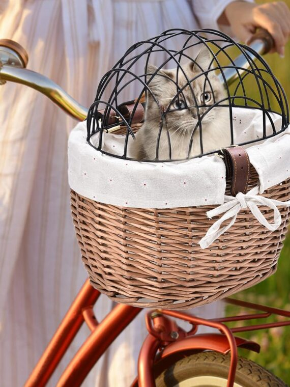 small dog bike basket