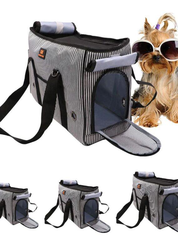 DogMEGA Striped Dog Carrier Tote (1)