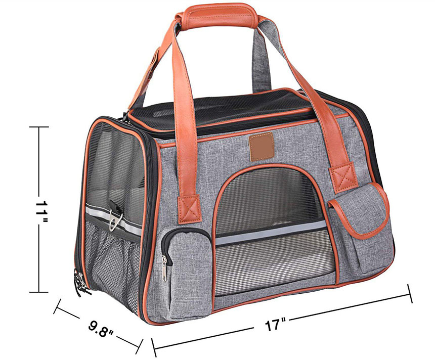 dog carrier for plane size