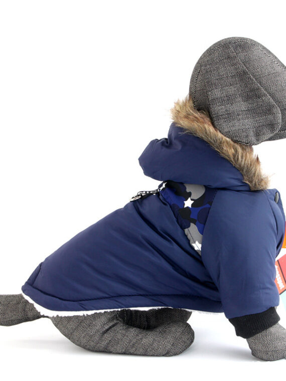 DogMEGA Warm Two-Legged Plush Vest Hoodie | Autumn And Winter Clothes for Small Dog