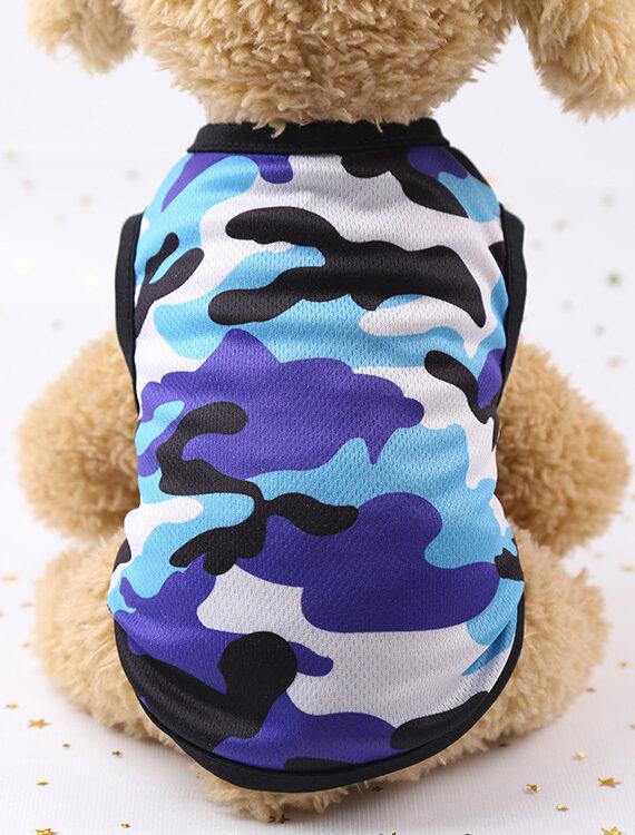 DogMEGA Printed Mesh Camouflage Breathable Shirt for Small Dog