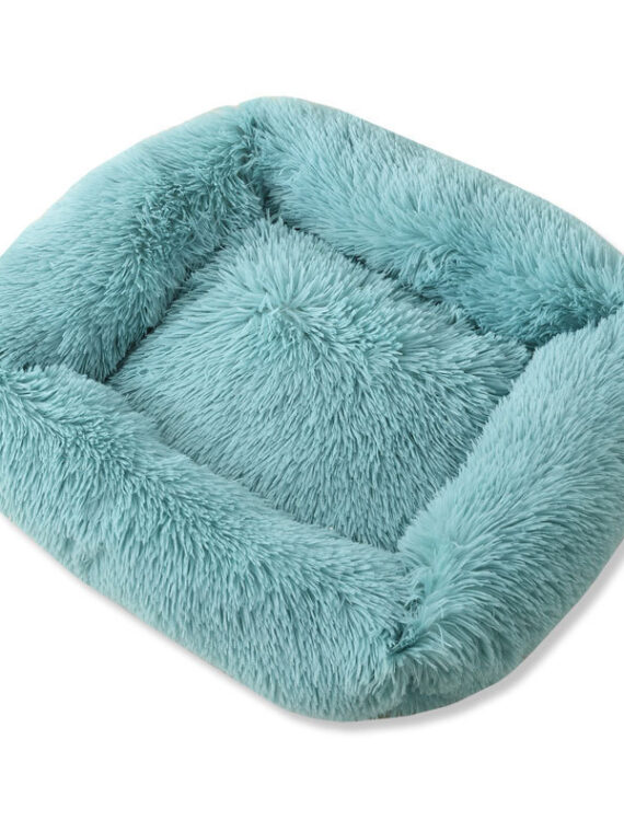 Winter Dog Bed | Warm Bed for Small Medium Dog | Soft Square Dog Bed
