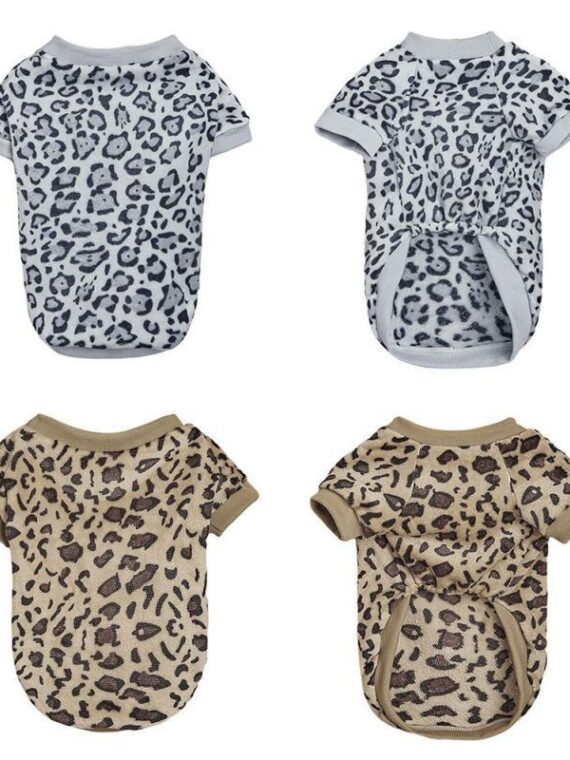 Leopard Print Sweater for Dog