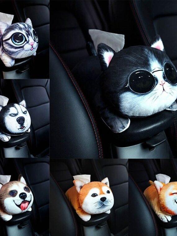 Pet Cute Car Tissue Box (1)